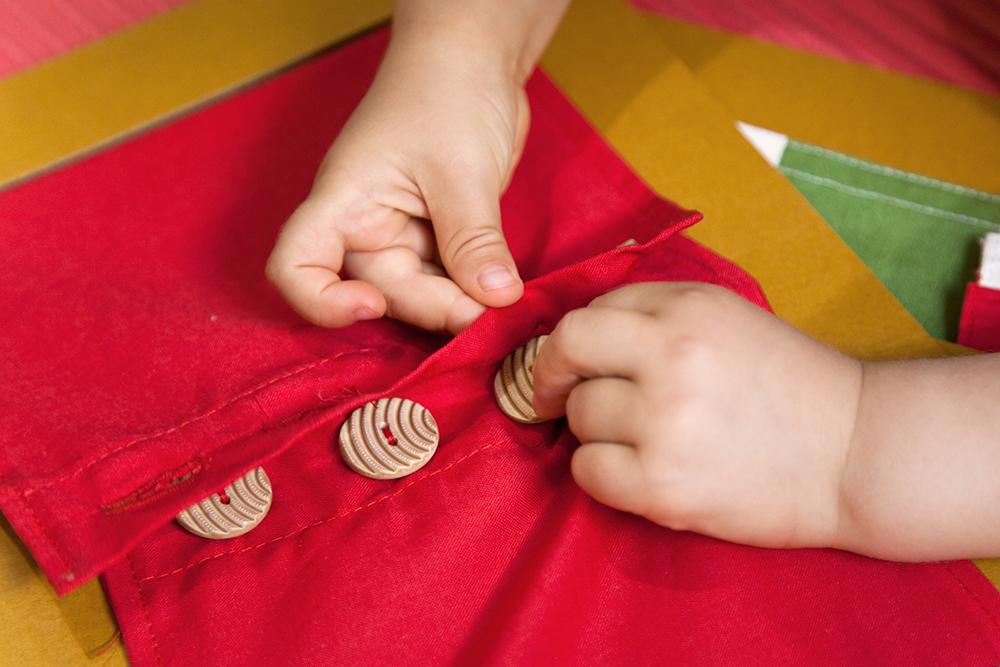 Tessuto abbottonato per bambini materiale